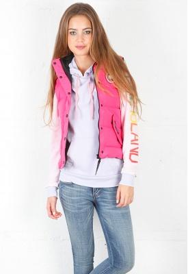 pink canada goose vest
