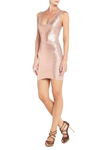 Bcbg Gisella Foil Print Cocktail Dress