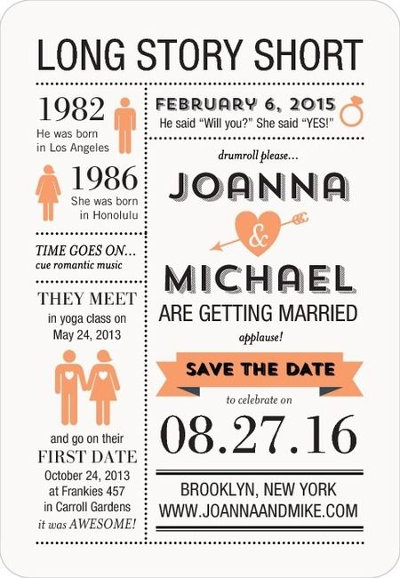 Fun Save the Date - totally unique and sets the tone for a fun wedding.