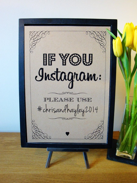 Turn your wedding into an official Instagram hashtag - Have your guests upload their pics using a custom hashtag so you can see your wedding pics instantly (and forever) on your iPhone.