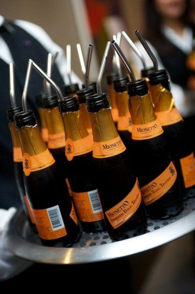 Mini Champagne Bottles - perfect to serve while getting ready for your big day, the limo ride to the venue or to include in your welcome bag for hotel guests. The perfect serving size to start the celebration!