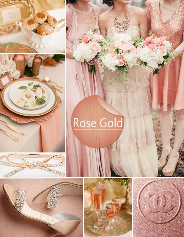 Rose Gold Wedding - Feminine and very on trend.